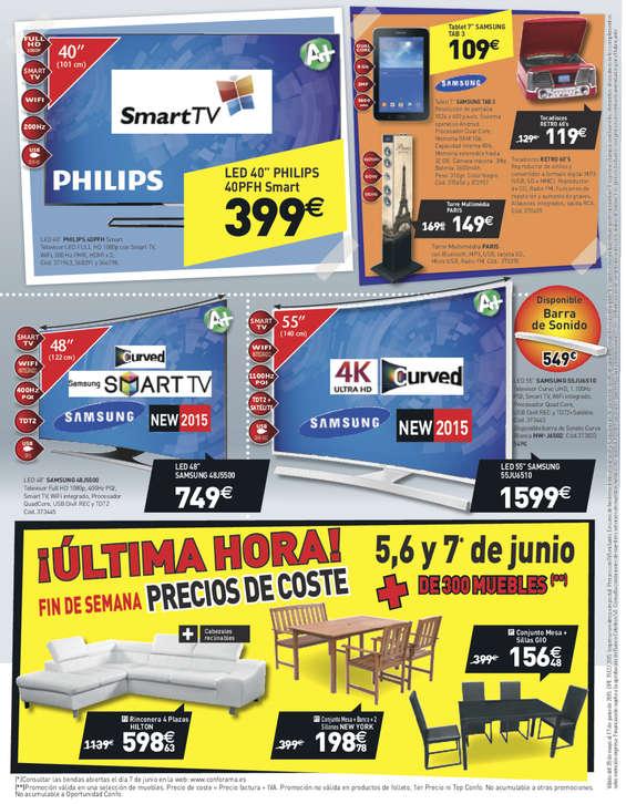 Ofertas de Conforama, Compra ahora y empieza a pagar en setiembre