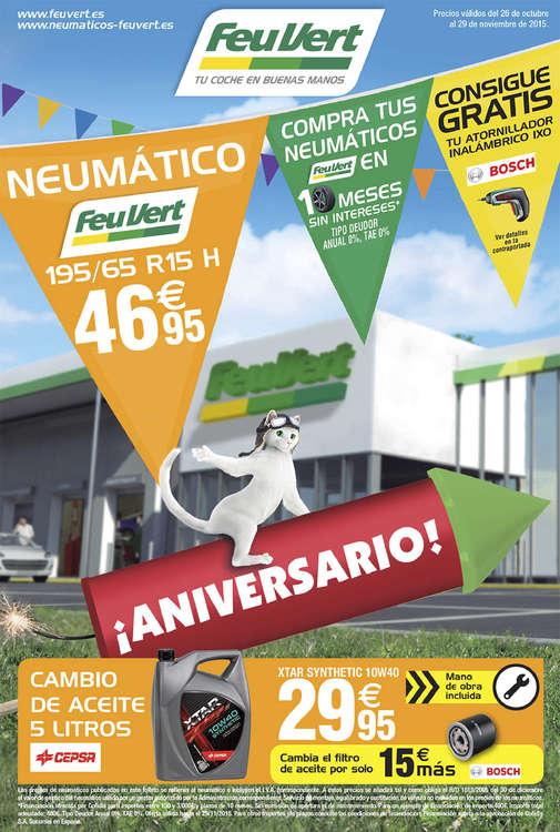 Ofertas de Feu Vert, ¡Aniversario!