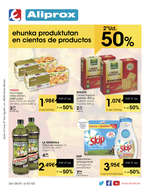 Ofertas de Eroski, 2ª ud. 50% ehunka produktutan