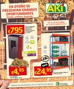 Ofertas de Aki, En otoño grandes oportunidades