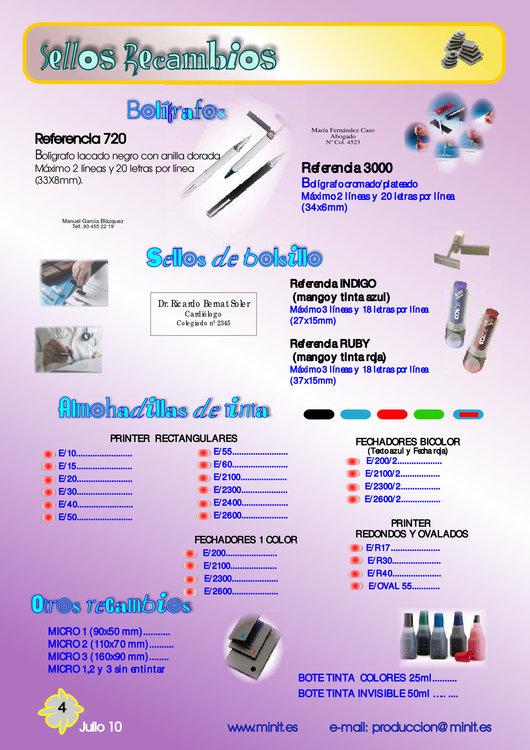 Ofertas de Mister Minit, Catálogo de productos