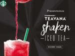 Ofertas de Starbucks, Teavana shaked iced tea