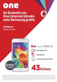 En Euskadi con One internet llévate este Samsung gratis