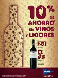 10% de ahorro en vinos y licores