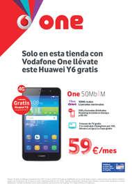 Sólo en esta tienda con Vodafone One llévate este Huawei Y6 gratis