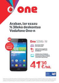 Araban, lor ezazu %30eko deskontua Vodafone One-n