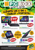 Ofertas de PC Box, Llévate un 2 x 1 ¡Tablet + portátil!