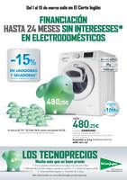Ofertas de El Corte Inglés, -15% en lavadoras y secadoras