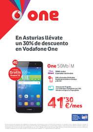 En Asturias llévate un 30% de descuento en Vodafone One