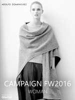 Ofertas de Adolfo Domínguez, Woman Campaign FW 2016