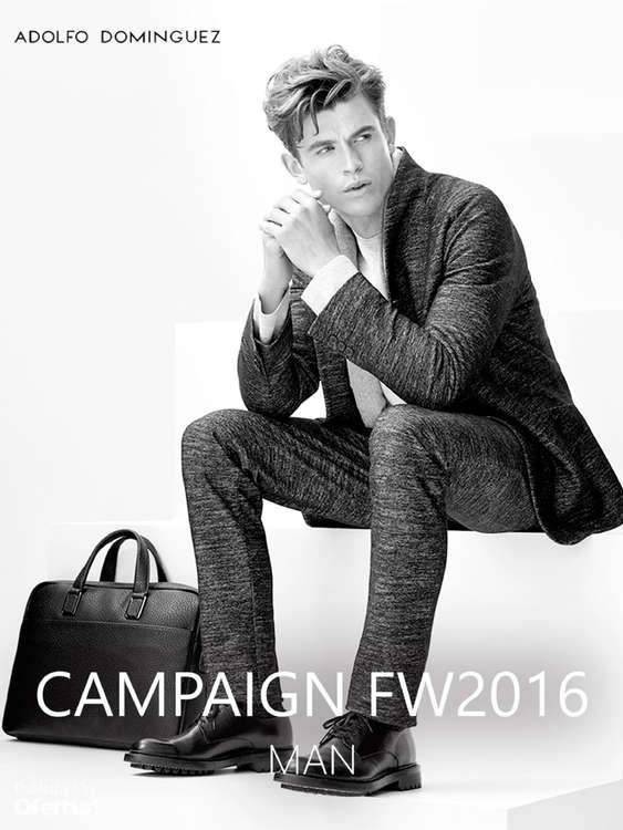 Ofertas de Adolfo Domínguez, Man Campaign FW 2016