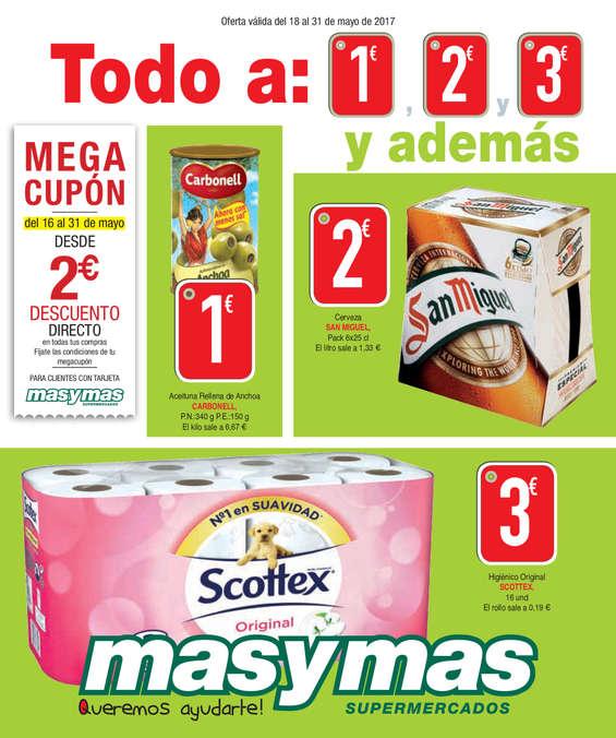 Ofertas de Masymas, Todo a 1€, 2€ y 3€