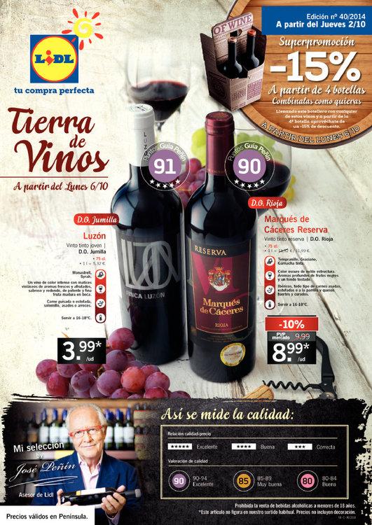 Ofertas de Lidl, Tierra de vinos