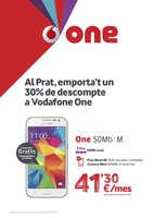 Ofertas de Vodafone, Al Prat, emporta't un 30% de descompte a Vodafone One