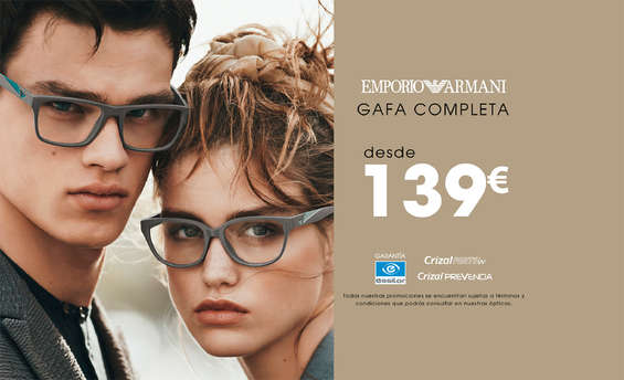 Ofertas de Optimil, Gafas Emporio Armani
