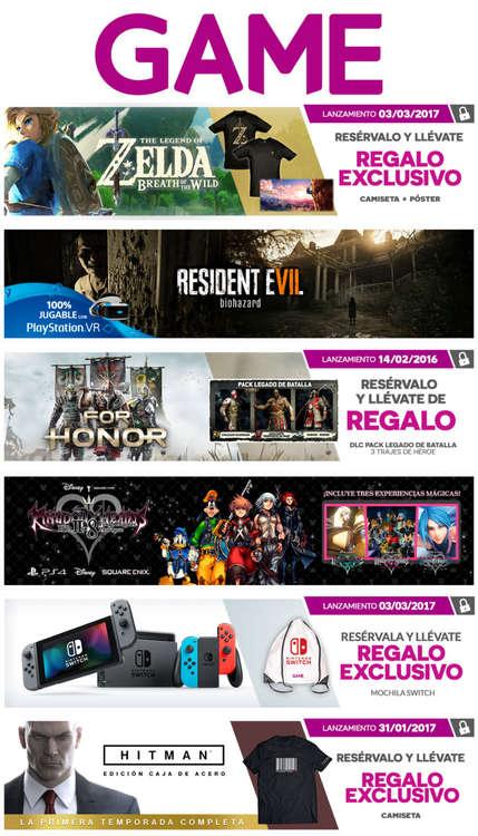 Ofertas de GAME, Próximos lanzamientos