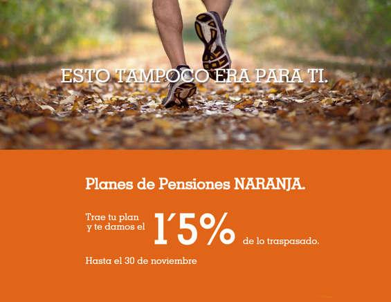 Ofertas de ING Direct, Planes de pensiones Naranja