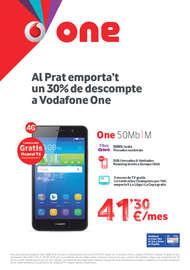 Al Prat emporta't un 30% de descompte a Vodafone One