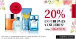 Ofertas de Douglas, 20% en perfumes y estuches