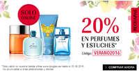 20% en perfumes y estuches