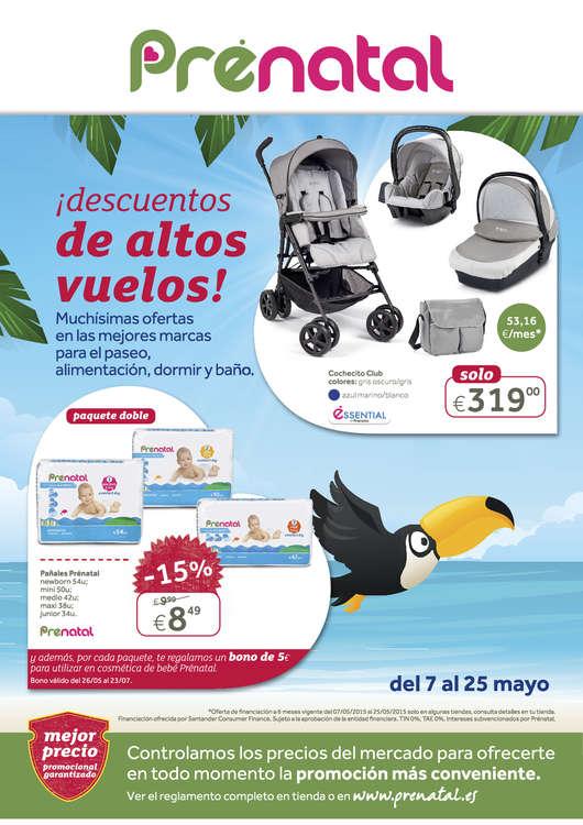 Ofertas de Prenatal, ¡Descuentos de altos vuelos!