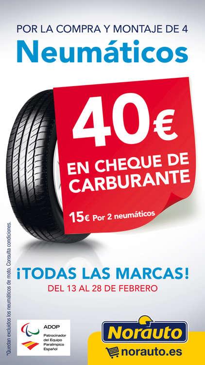 Ofertas de Norauto, 40€ en cheque de carburante