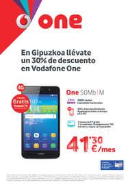 En Guipuzkoa llévate un 30% de descuento en Vodafone One