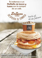 Ofertas de McDonald's, Cupón McMuffin bacon y huevo