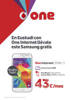 Ofertas de Vodafone, En Euskadi con One internet llévate este Samsung gratis