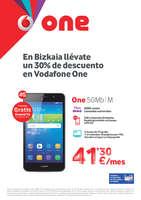 Ofertas de Vodafone, En Bizkaia llévate un 30% de descuento en Vodafone One