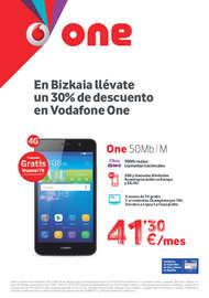 En Bizkaia llévate un 30% de descuento en Vodafone One