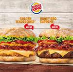 Ofertas de Burger King, Nuevas Golden Tendercrisp y Honey BBQ Supreme