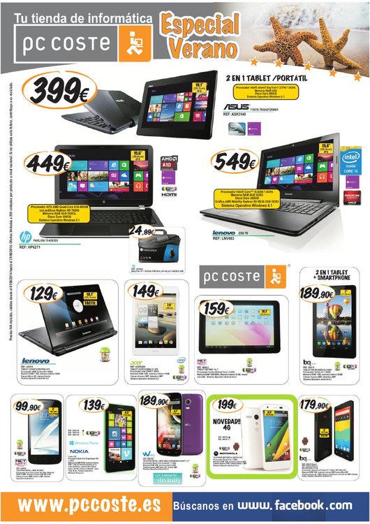 Ofertas de PC Coste, Especial verano