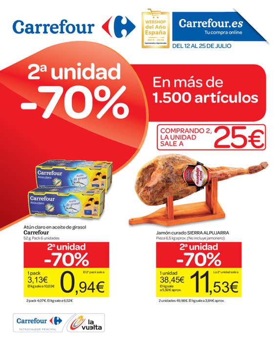 Ofertas de Carrefour, 2a unidad al 70%