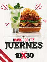 Ofertas de TGI Fridays, Thank God it's Juernes