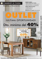 Ofertas de Camino A Casa, Outlet - Descuento mínimo del 40%. ¡Ultima oportunidad!