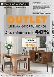 Outlet - Descuento mínimo del 40%. ¡Ultima oportunidad!