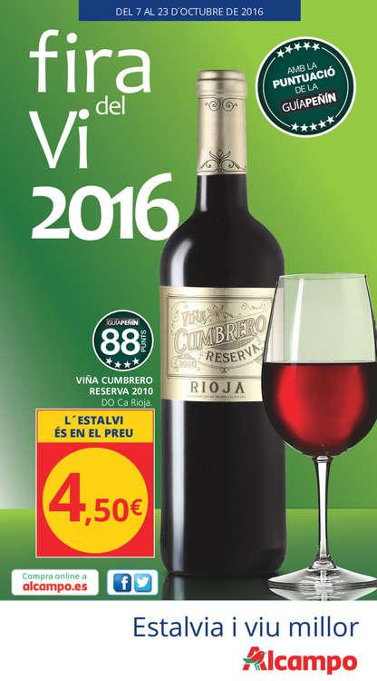 Ofertas de Alcampo, Feria del vino