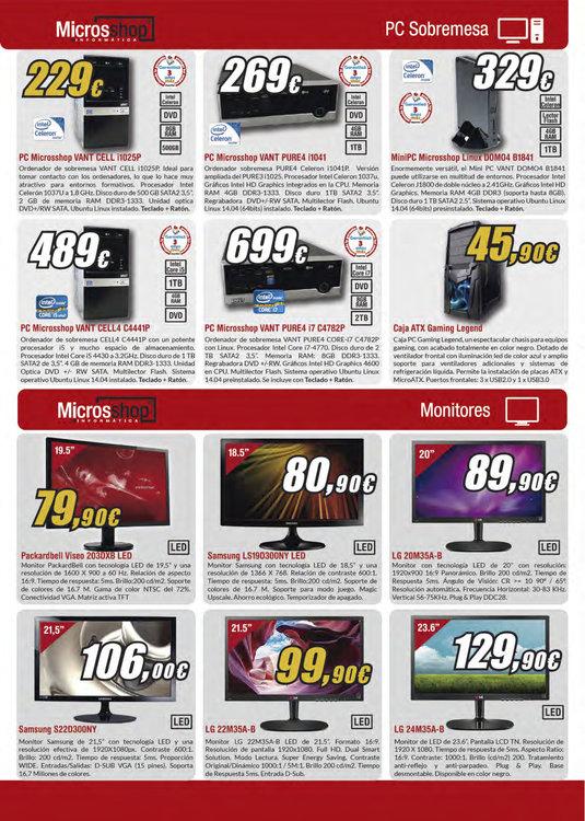 Ofertas de Microsshop, Ofertas Febrero
