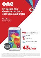 Ofertas de Vodafone, En Galicia con One internet llévate este Samsung gratis
