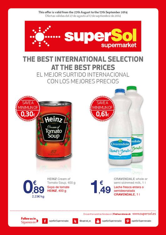 Ofertas de SuperSol, El mejor surtido internacional a los mejores precios