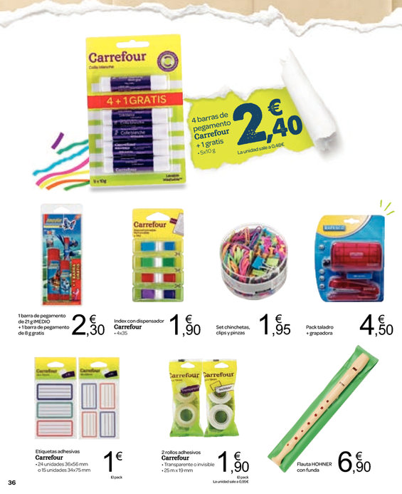 Ofertas de Carrefour, Eskolarako Itzulera