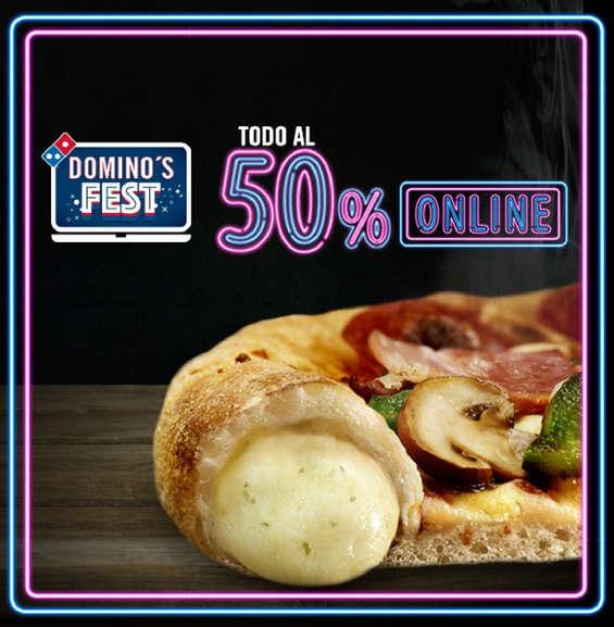 Ofertas de Domino's Pizza, Todo al 50%