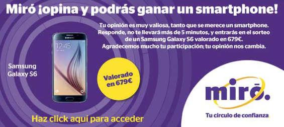 Ofertas de Miró, ¡opina y podrás ganar un smartphone!