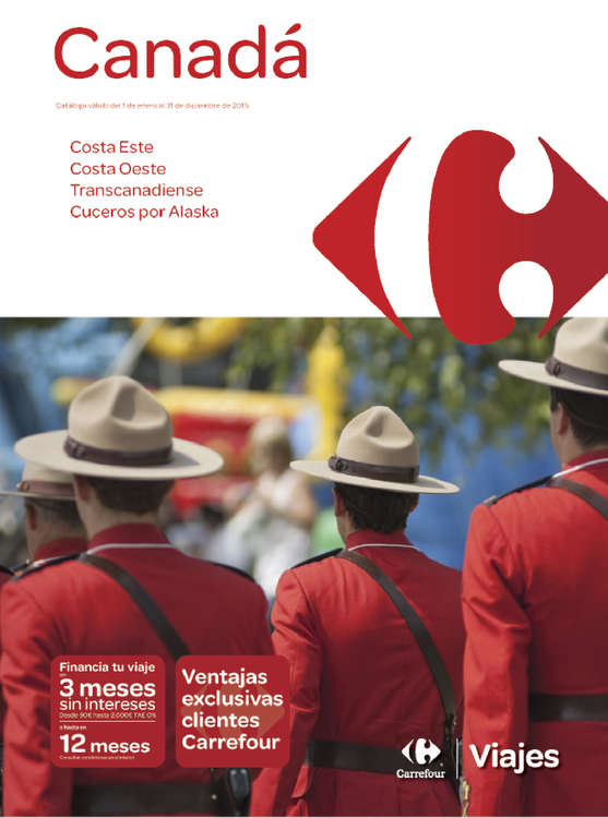 Ofertas de Carrefour Viajes, Canadá