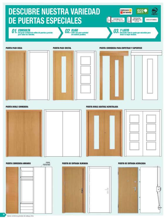 catalogo ventanas bricodepot elegant puertas interior