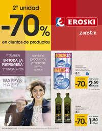 2ª unidad -70% en cientos de productos