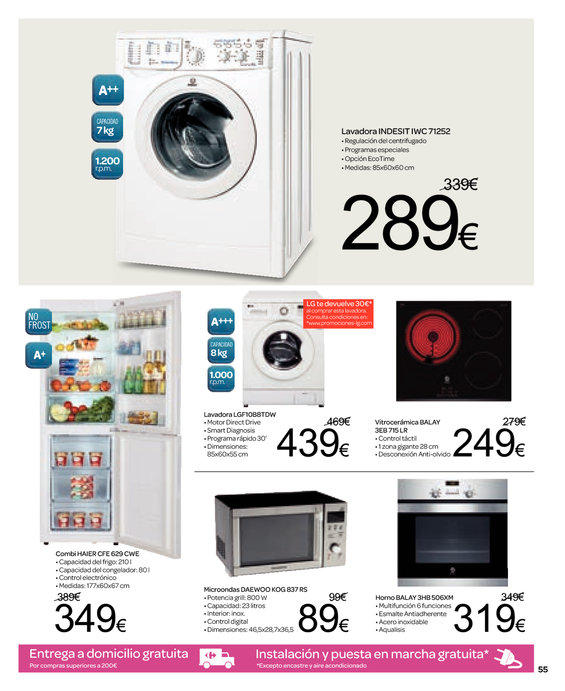 Ofertas de Carrefour, Productos a 1€