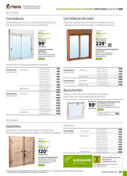 Comprar ventana aluminio barato en valencia ofertia - Ofertas leroy merlin valencia ...
