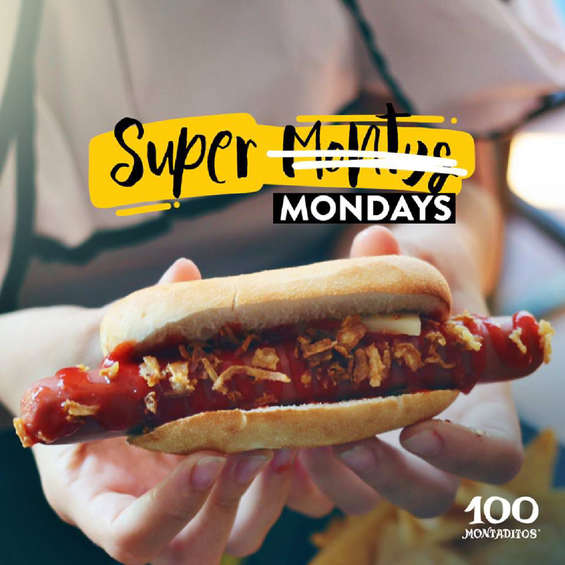 Ofertas de 100 Montaditos, Super Mondays